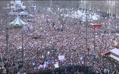 Marcha contra terrorismo reúne 4 milhões em Paris